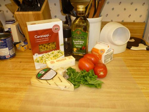 Pasta with Pesto Cream Sauce Ingredients