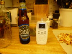 Intermission: beer and baby monitor
