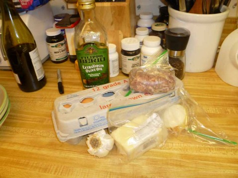 Sausage Omelet ingredients