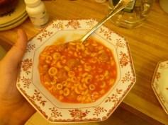 Spaghetti-Os plated