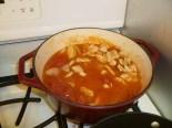 8-Chicken added to sauce