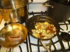 Omelet scrambled