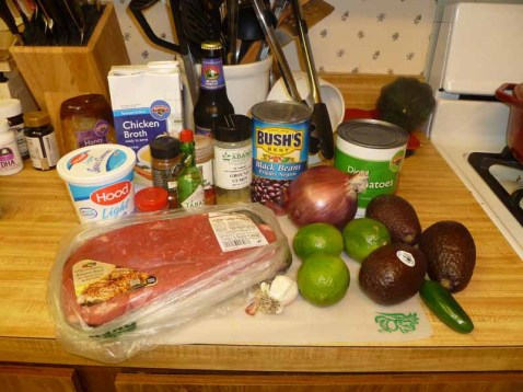 Beef and Black Bean Chili with Avocado Relish Ingredients