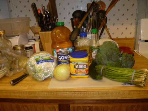 Vegetable Stir Fry Ingredients