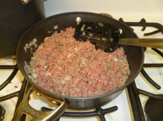 Ground Beef Mixed with Onions