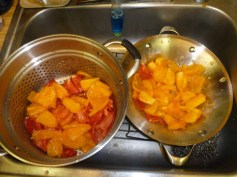 Tomatoes Draining