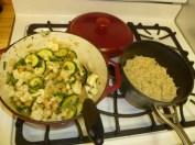 Vegetable Stir Fry & Rice Done