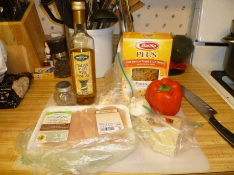 Herb Chicken With Bow Tie Ingredients