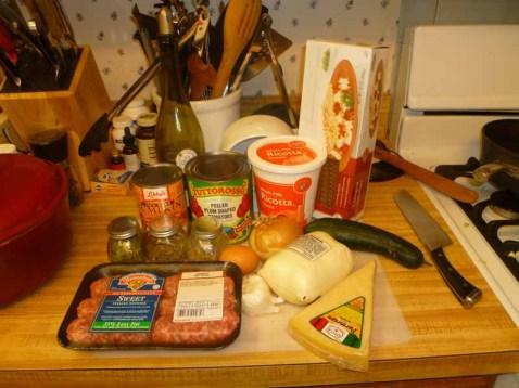 Pumpkin Lasagna Ingredients