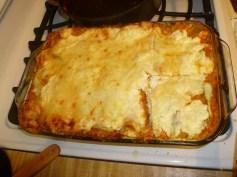 Pumpkin Lasagna Cooked