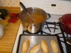 Lima Bean, Sun-Dried Tomato & Pesto Soup With Warm Rolls