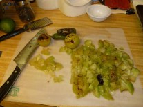 Chopped Tomatillos