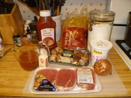 Beef Stroganoff Ingredients