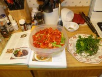 Veggies & Herbs Prepped