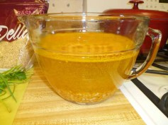 Water, Turmeric & Yellow Split Peas