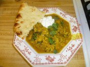 Herb & Beef Soup With Yogurt & Naan