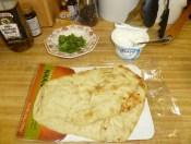 Chopped Mint, Yogurt & Naan