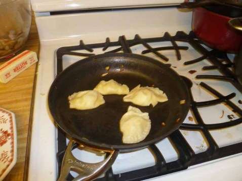 Boiled Pierogies In The Pan