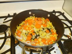 Carrots, Peas & Corn Added