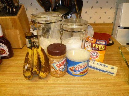 Peanut Butter Banana Bread Ingredients
