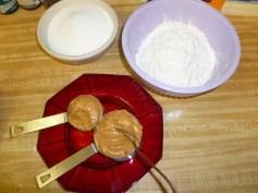 Peanut Butter, Flour & Sugar Measured Out