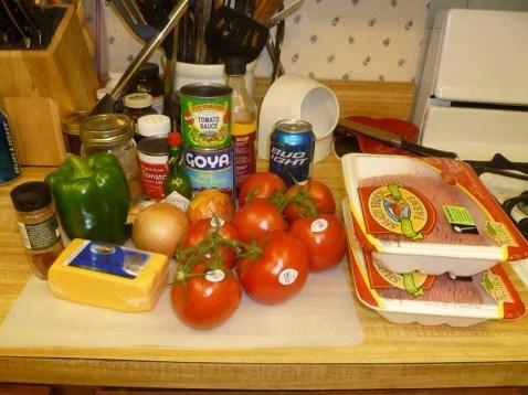 Turkey Chili Ingredients