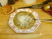 Genoese Minestrone Soup Bowled