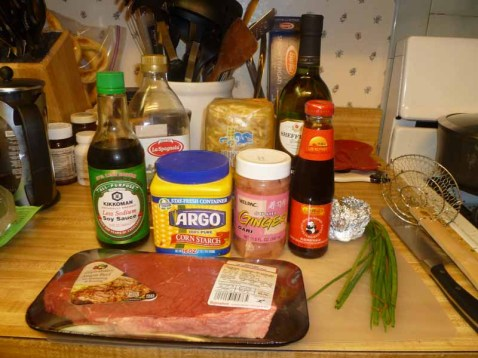 Stir-Fried Ginger Beef Ingredients