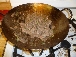 Stir-Fried Ginger Beef All Cooked
