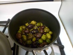 Olives In Pan