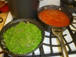 Peas & Sauce Cooking