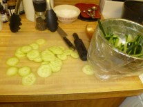 Chopped Cucumbers