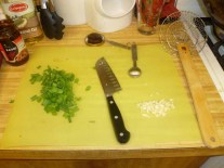 Green Onions & Garlic Prepped