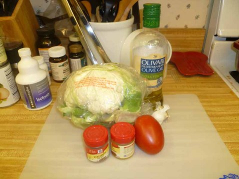 Cauliflower With Tomatoes Ingredients