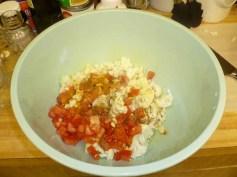 Cauliflower, Tomatoes, Olive Oil, Garlic, Cumin & Turmeric