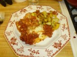 Mama's Lasagna & Cauliflower With Tomato