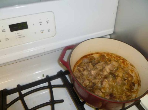 Carnitas cooking Away