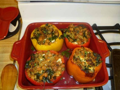 Couscous-Stuffed Peppers Cooked