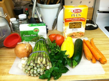 Pasta Primavera Ingredients