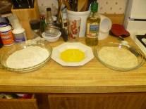 Flour, Egg & Bread Crumb Stations