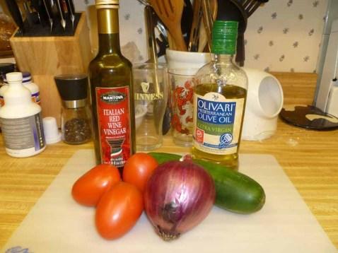 Cucumber Tomato Relish Ingedients