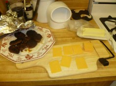 Cooked Sausage & Cut Cheese
