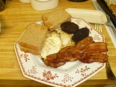 Sausage, Eggs, Bacon & Toast