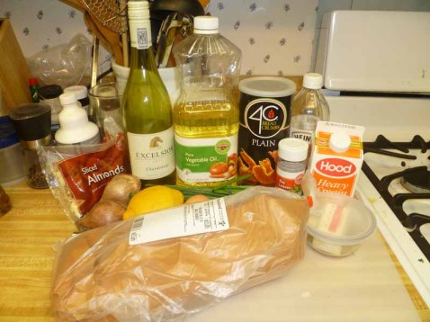 Almond-Crusted Cod Ingredients
