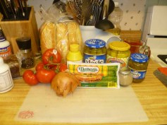Chicago-Style Hot Dog Ingredients