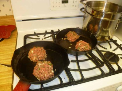 Burgers On In Cast Iron