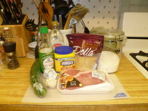 Stir-Fried Cucumber & Pork With Golden Garlic Ingredients