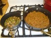 Warming Up The Onions & Beans, Cooking Joes