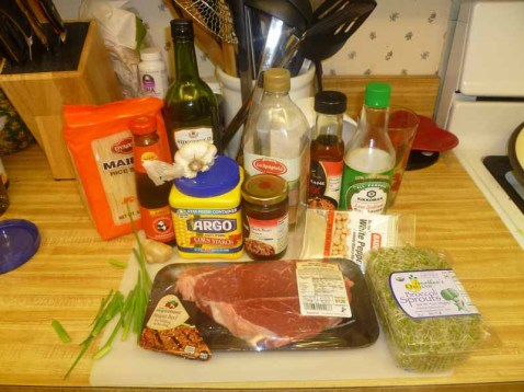 Beef Chow Fun Ingredients