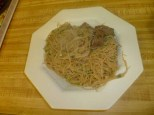 Beef Chow Fun Plated